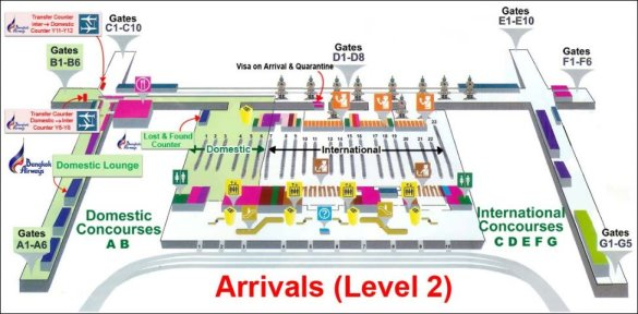Arrivel Level Suvarnabhumi Airport