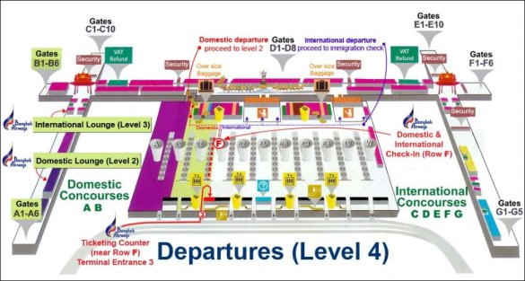 Departure Level Suvarnabhumi Airport